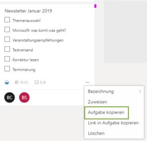 Microsoft Planner_ Aufgabe kopieren